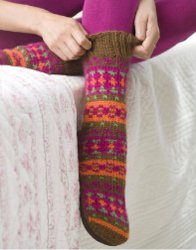Knitter Slipper Socks