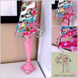Scrap Fabric Lamp Makeover