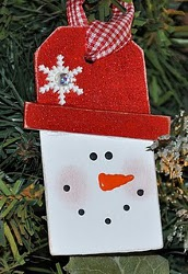 Tipped Hat Snowman