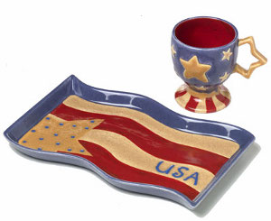 Star Spangled Coffee Server Set