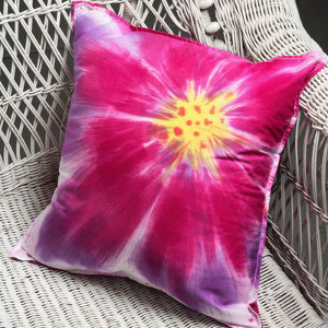 sunburst blossom pillow 12 Tie Dye Patterns for Adults