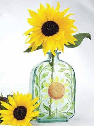 Sunflower Stained Glass Bottle
