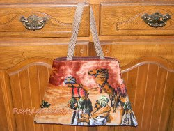 Repurposed Fabric Tote