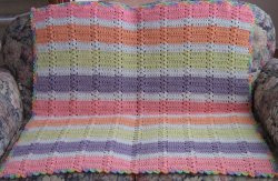 Tropical Fruits Simple Shell Afghan
