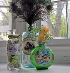 Decoupage Upcycled Jars