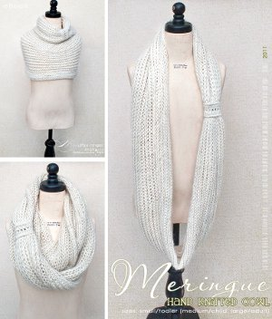 Vanilla Meringue Cowl Scarf Knitting Patterns