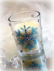 Etched Glass Snowflake Votive