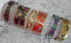 Water Bottle and Paper Bangles