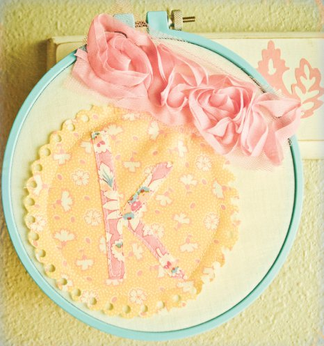 Fabric Filled Embroidery Hoop