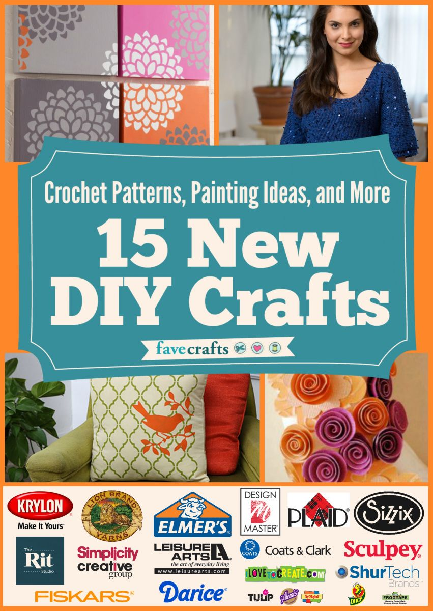 Crochet Patterns, Painting Ideas, and More: 15 New DIY Crafts