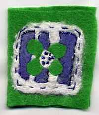 Felt Flower Needlecase