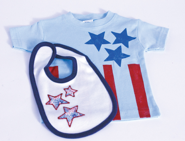 Fourth of July Baby Bib and Shirt