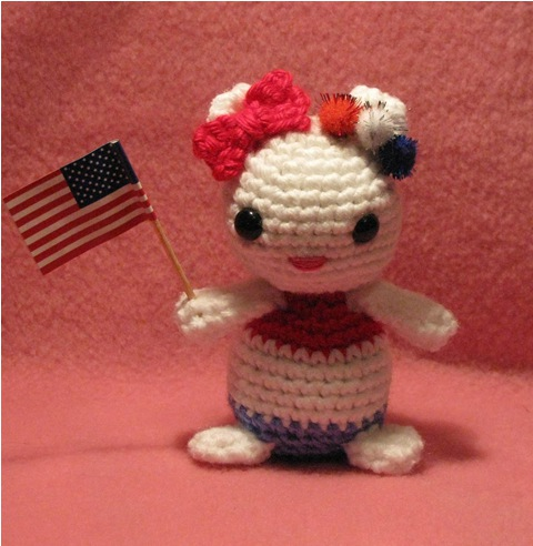 Crochet Independence Day Kitty