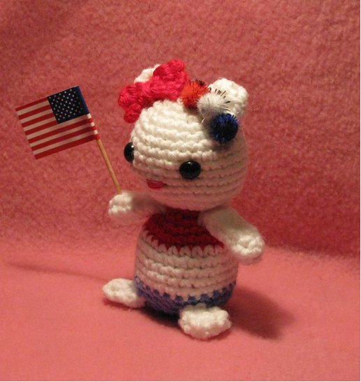 Amigurumi 4th of July Kitty 2