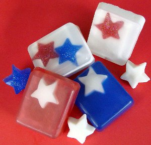July 4th Star Soap 4