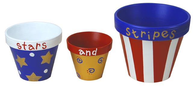 Patriotic Garden Pot Trio