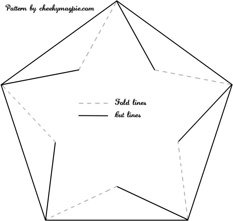 Large Star Shape Template Pinwheel template