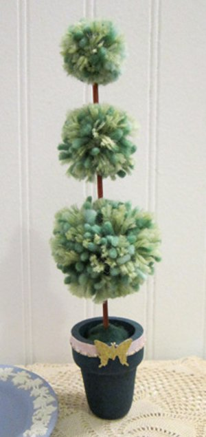 Whimsical Pompom Topiary