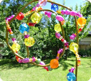 beaded garden decoration