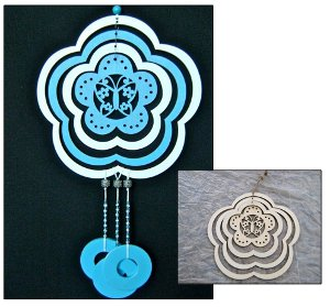 blue skies wind chime