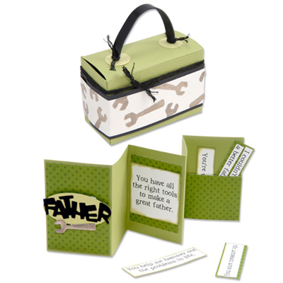 Father's Day Card and Tool Box