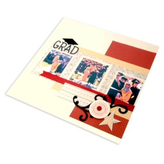 Graduation Scrapbook Page