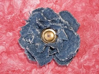 Denim Flower Brooch Printable Flower Patterns