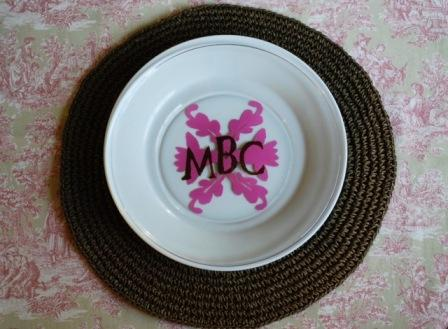 Monogram Plate for Mom