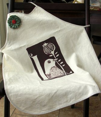 Stencil Painted Apron