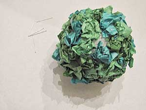 Tissue Paper Ball Finished