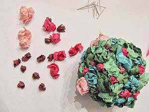 Tissue Paper Topiary Flowers