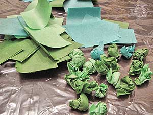 Tissue Paper Topiary Leaves