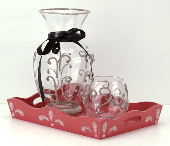 Decorative Vase and Tray