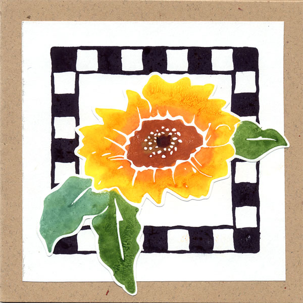 Small Sunflower Gift Tag