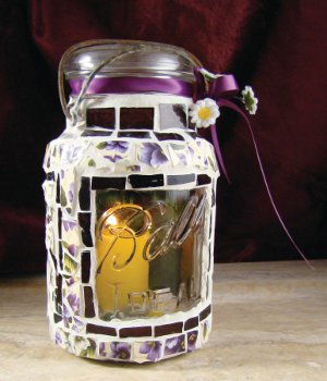 Craft Ideas Mason Jars on Mason Jar Craft With Whatever Color Tiles You D Like