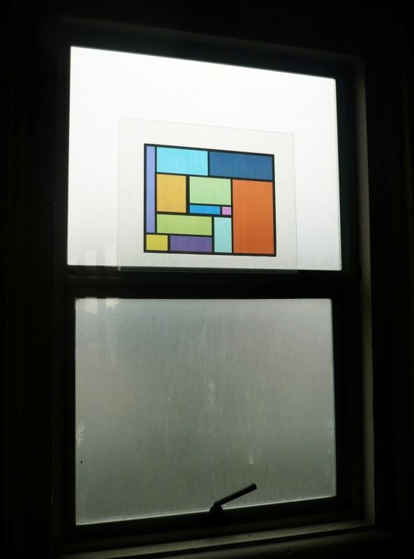 Faux Stained Glass Window 1