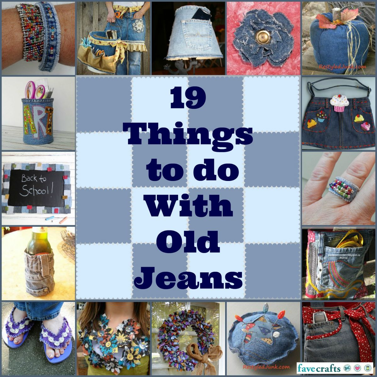 19 Things to Do with Old Jeans