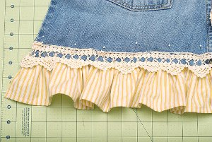 denim apron and bucket