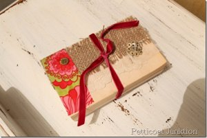 Lace and Fabric Book Cover