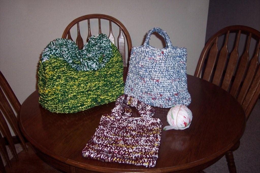 Free Crochet Patterns Using Plastic Grocery Bags : How to Make Plarn, Plastic Bag Yarn FaveCrafts.com