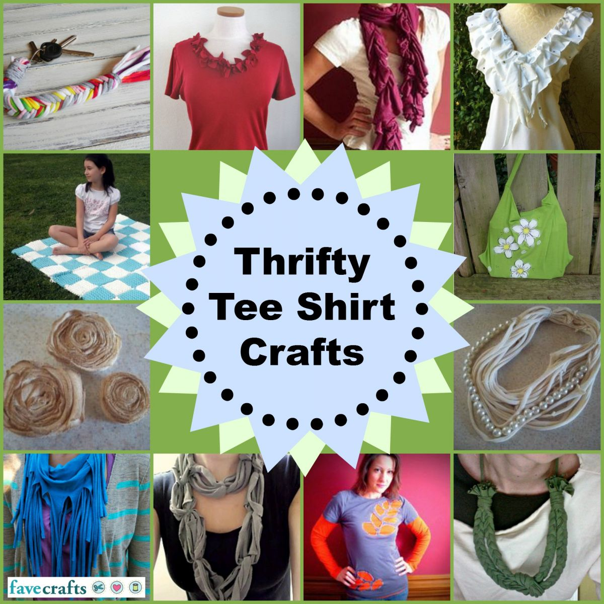 How to Make a Tee Shirt Scarf + 18 Tee Shirt Crafts