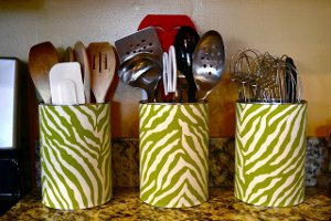 Upcycled Utensil Cans