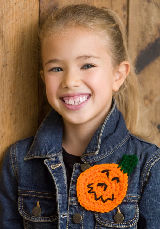 Crochet Pumpkin Pin