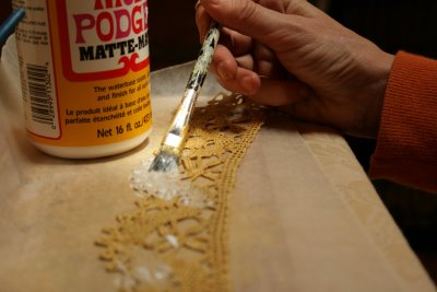 Sealing with Modge Podge