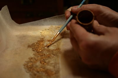 Enhance with Gold Leafing Powder