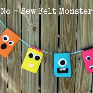 Easy No-Sew Monster Banner