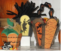 Halloween Candy Cauldrons