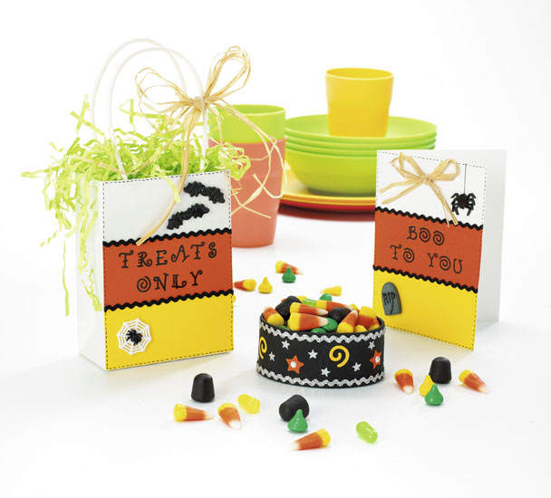 Candy Corn Halloween Paper Crafts