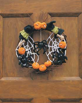 Halloween Crochet Wreath