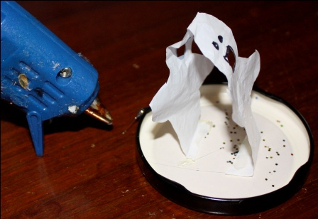 Glue Ghost to Lid